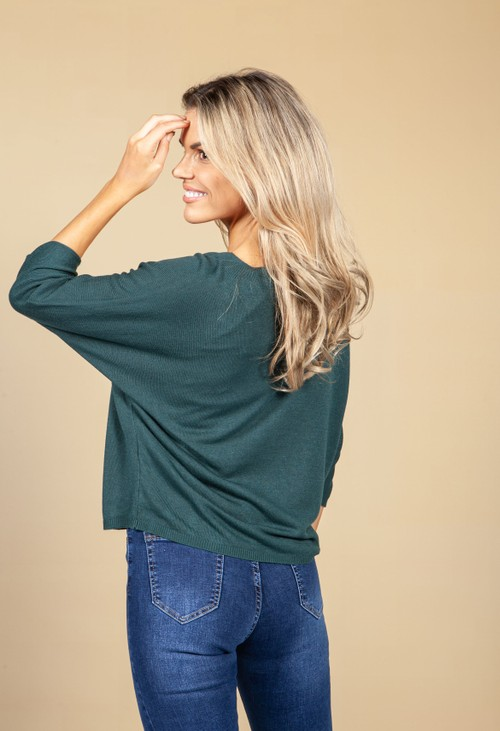 Emporium Oversized Pullover Knit in Emerald