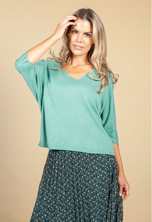 Emporium Oversized Pullover Knit in Mint