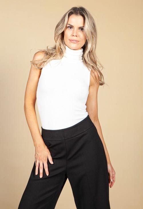 Pamela Scott Cream Super Soft Knit Bodysuit