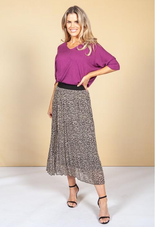 Emporium Leopard Print Skirt
