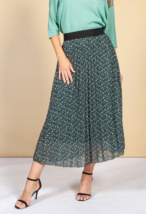 Emporium Dark Green Floral Print Skirt