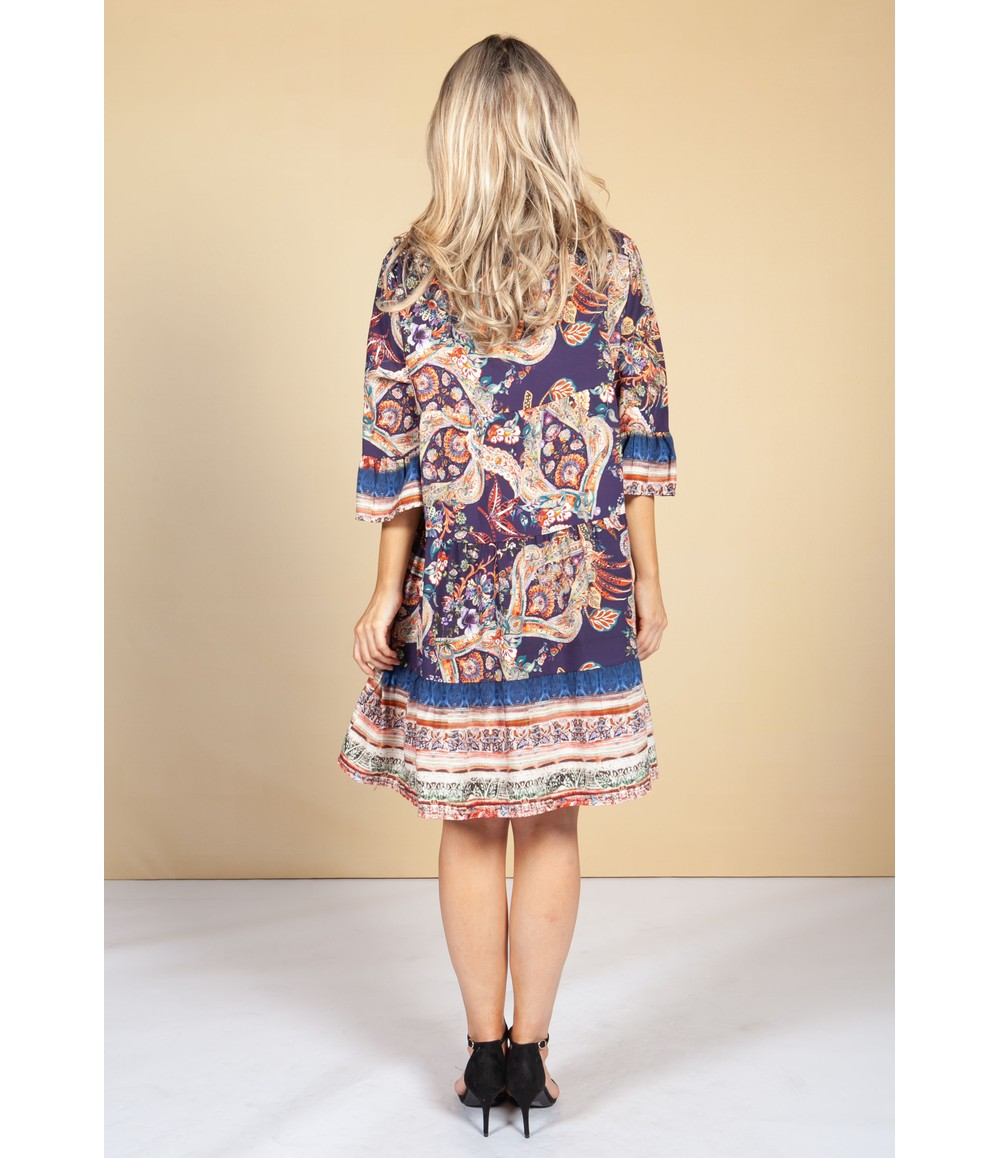 Pamela Scott Tunic Style Dress in Violet Blossom