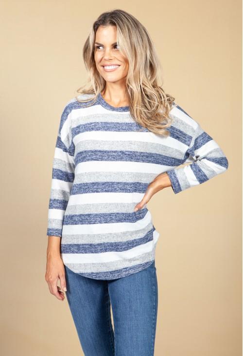 Pamela Scott Soft Striped Jumper