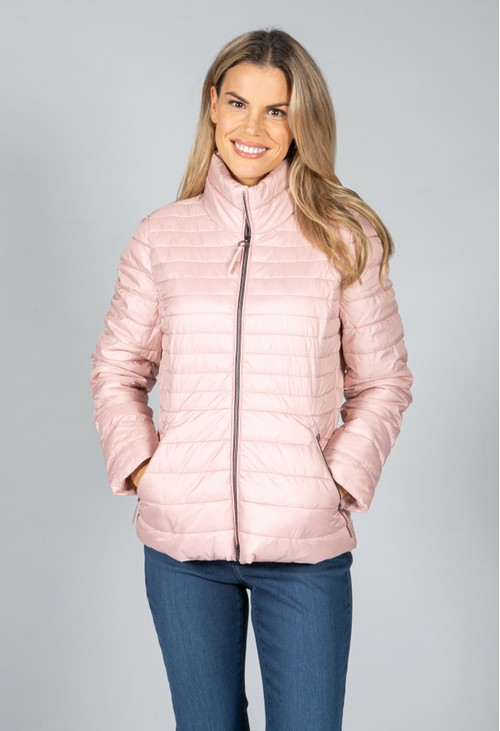 Gerry Weber QUILTED COAT IN ROSE