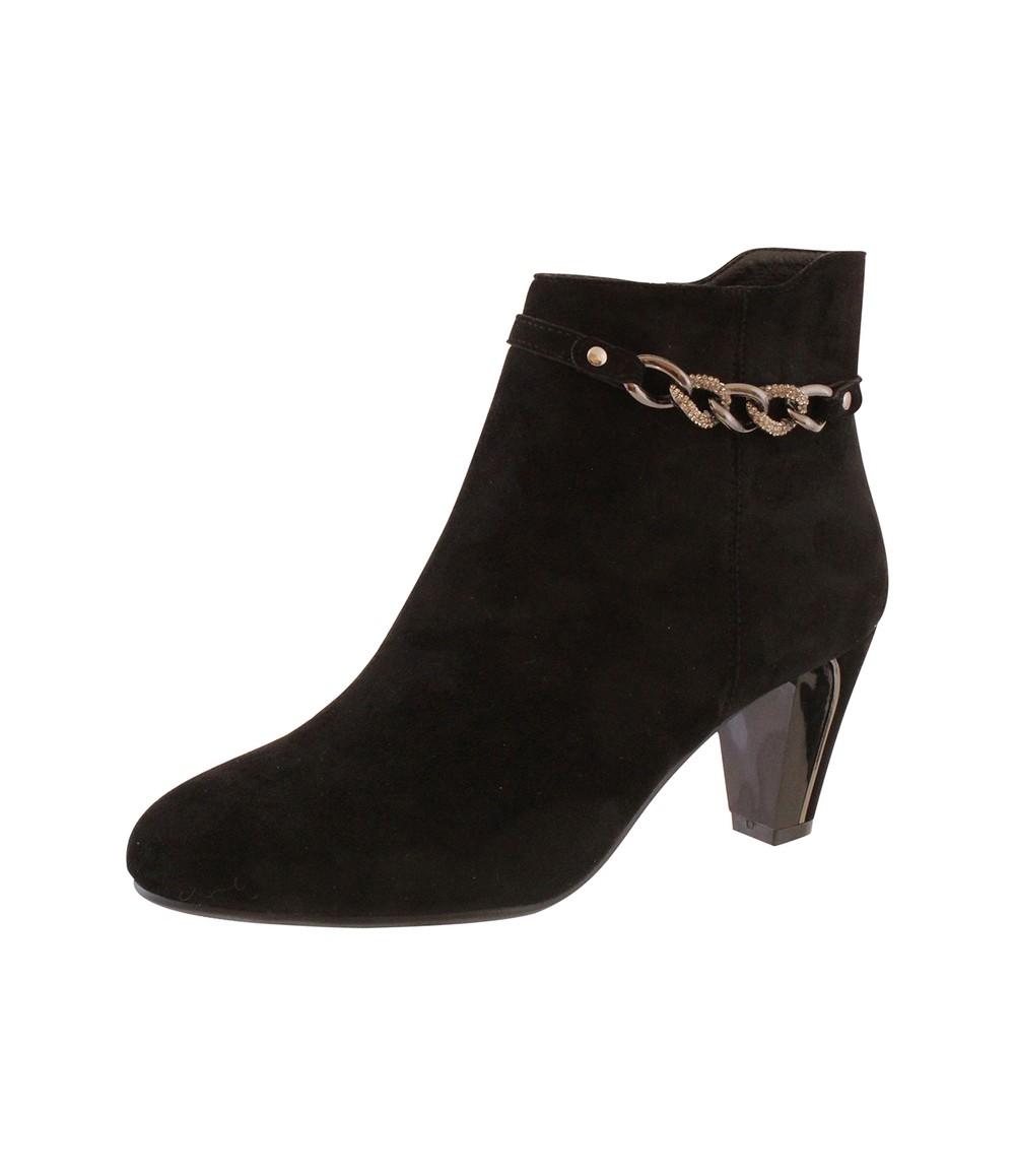 Susst Black Microfibre Plain Front Elegant Boot