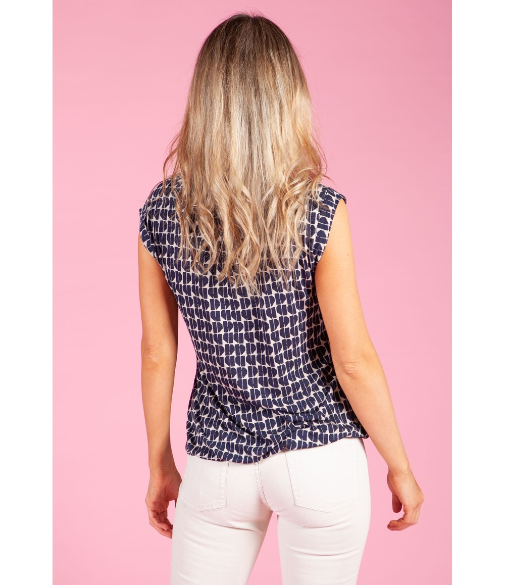 Opus Shirt with print Strolchi abstract