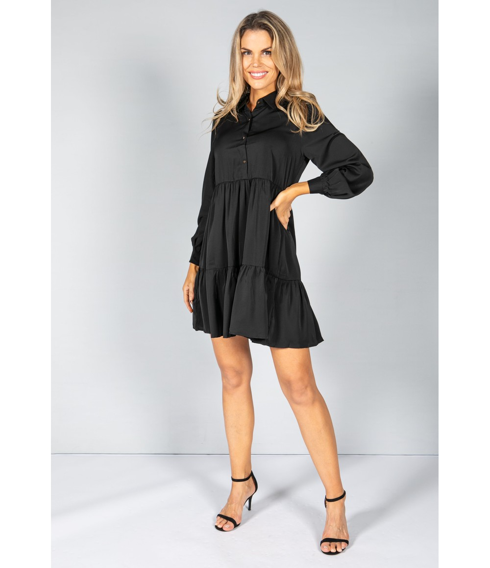 Pamela Scott Black Shirt Style Dress