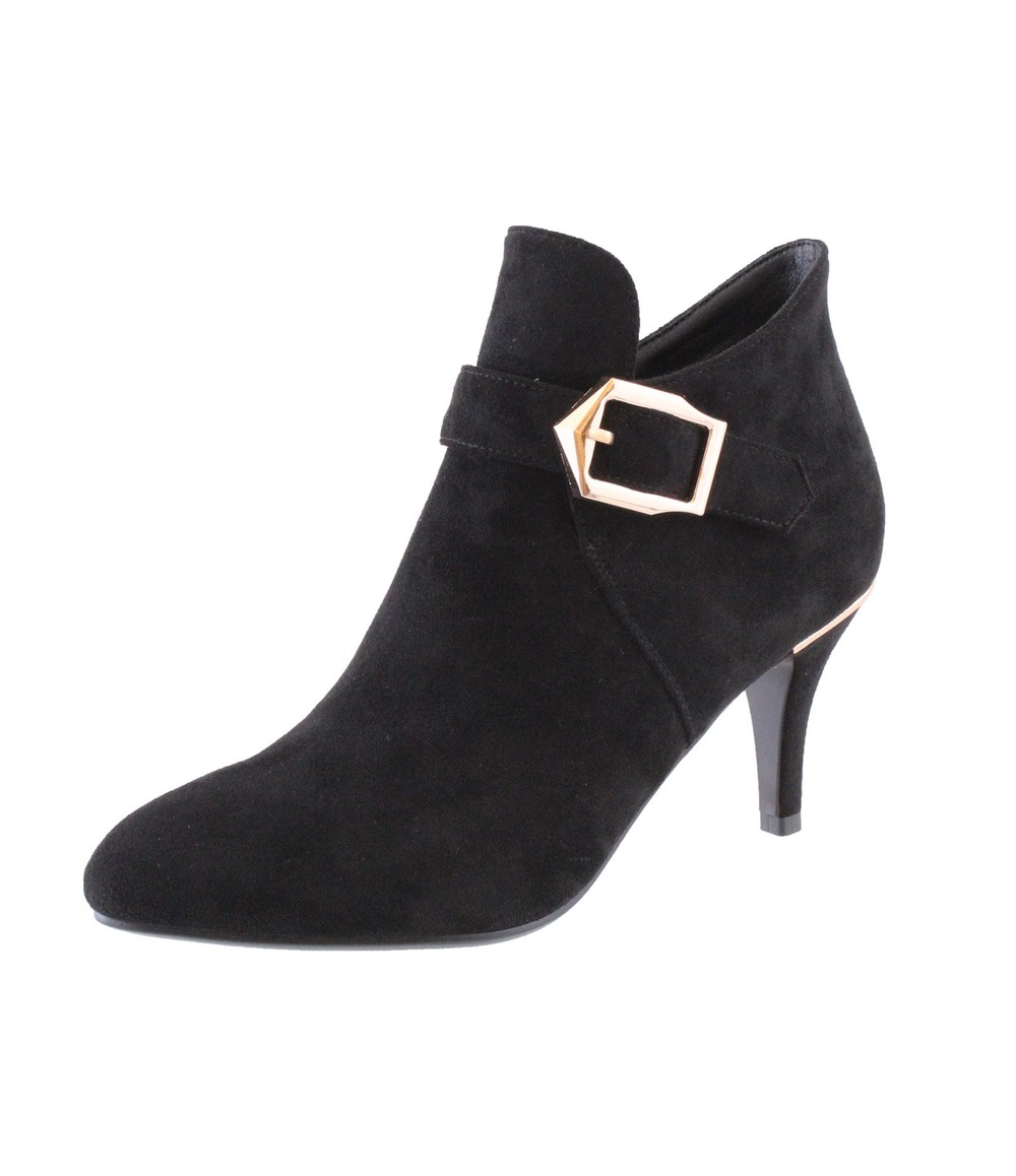 Susst Black Microfibre Boot With Buckle Detail