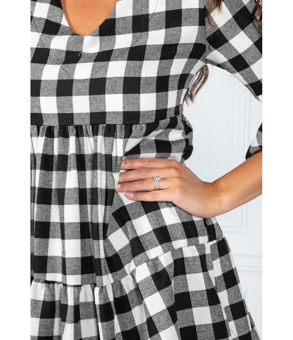 Pamela Scott Black and White Check Dolly Dress