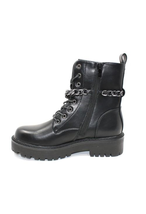 Black Rugged Angle Boot