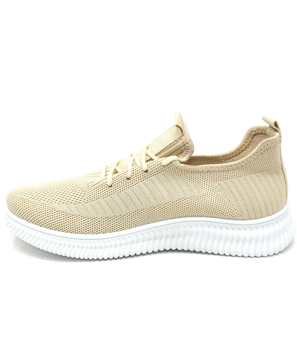 Shoe Lounge Beige Pull-on elasticated Trainer