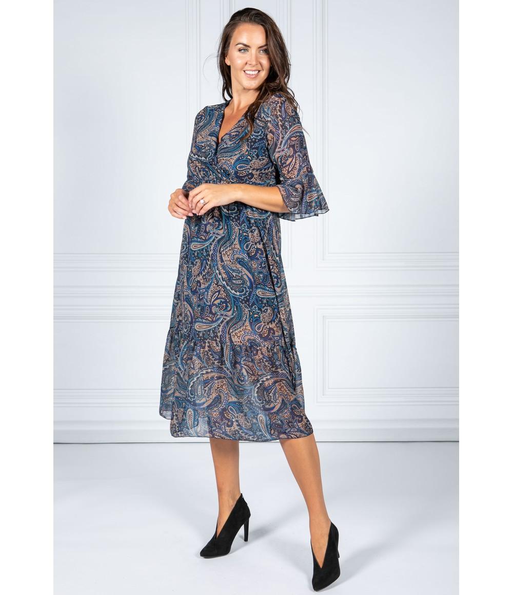 Pamela Scott Night Sky Paisley Midi Dress