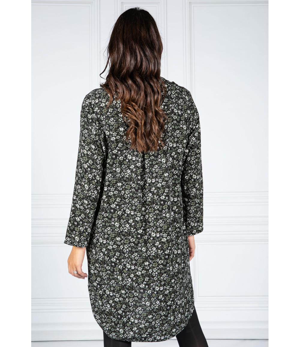 PAMELA SCOTT GREEN FLORAL SHIRT DRESS