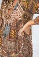 Pamela Scott VINTAGE PRINT SHIRT DRESS IN BROWN