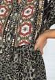 Pamela Scott LEOPARD PRINT SHIRT DRESS IN GREEN