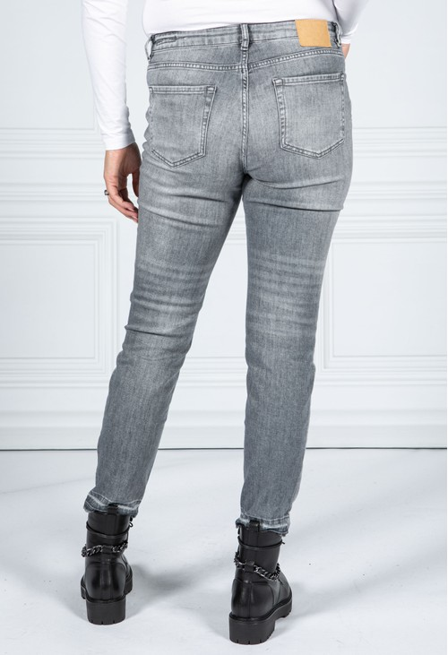 Opus Evita tinted grey slim jeans