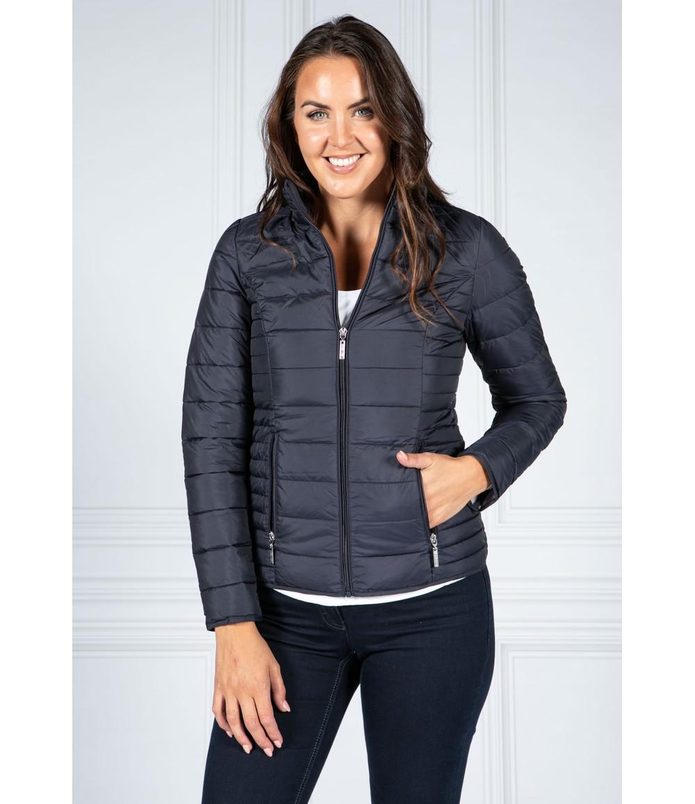 Pamela Scott Navy Padded Jacket