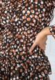 Pamela Scott Tan Polka Dot Dress