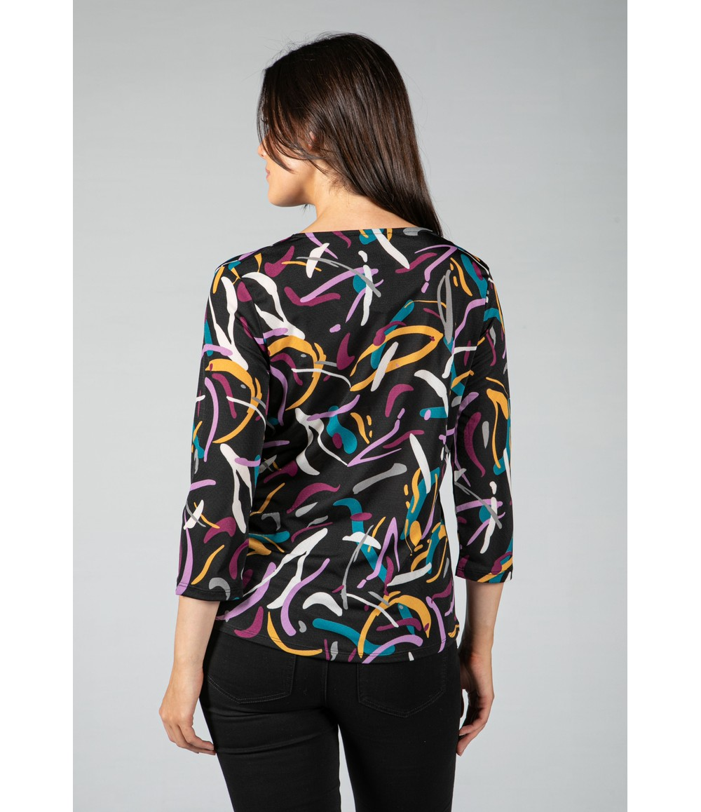 Sophie B Abstract Print Blouse
