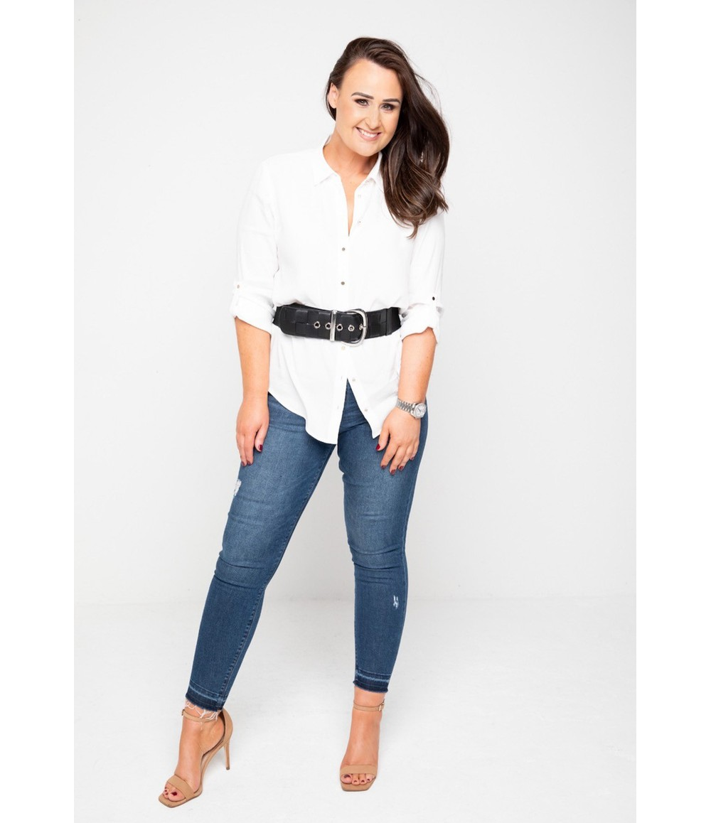 The Gail Collection OFF-WHITE BLOUSE