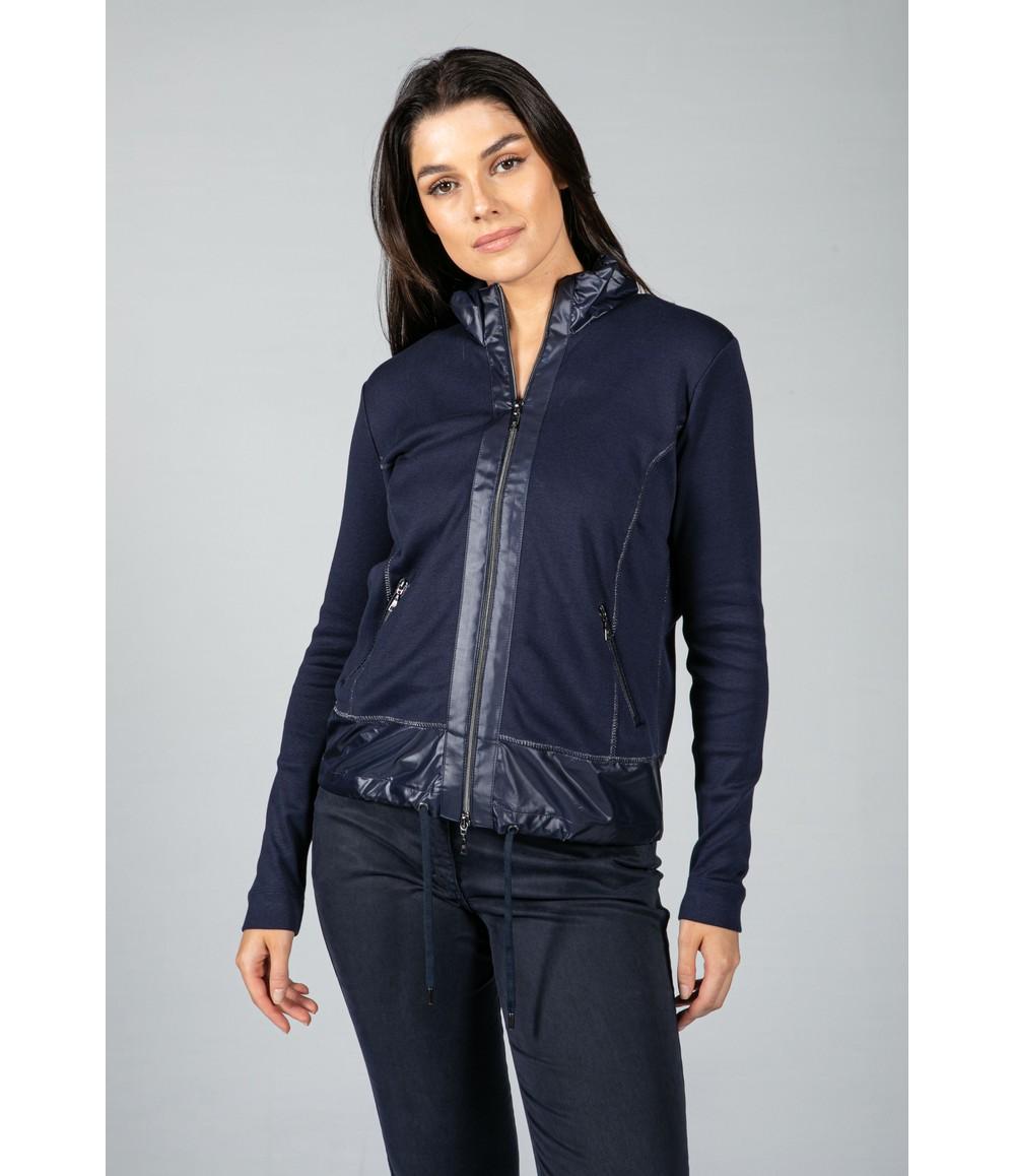 Basler Zip-Up Sweatshirt in Navy