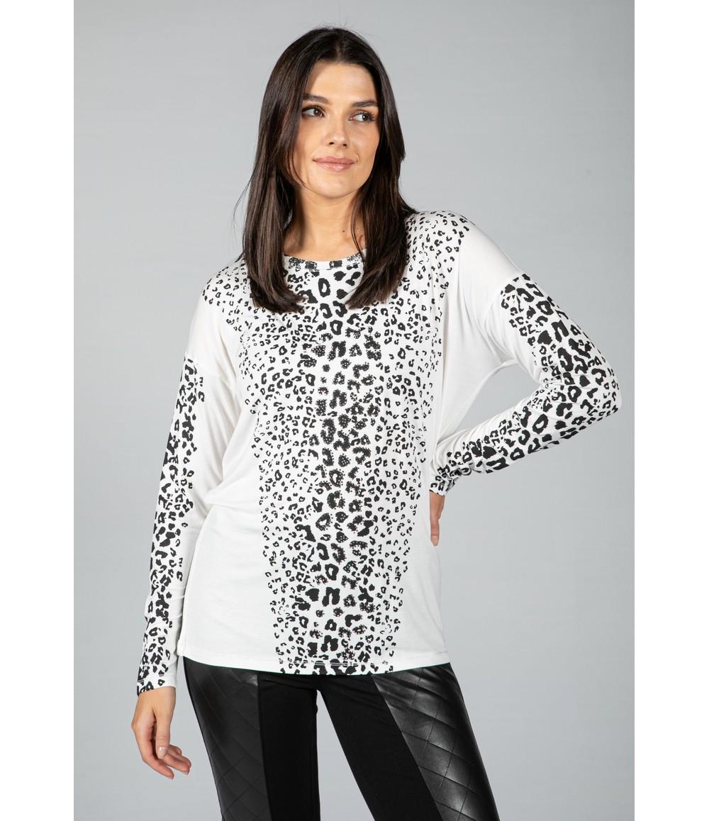 Tuzzi Long sleeve animal print top
