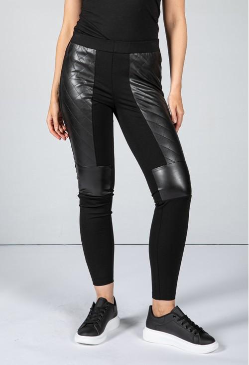 Tuzzi Faux Leather Sporty Leggings