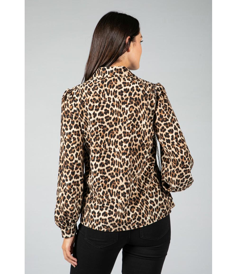Pamela Scott Leopard print blouse with Bag