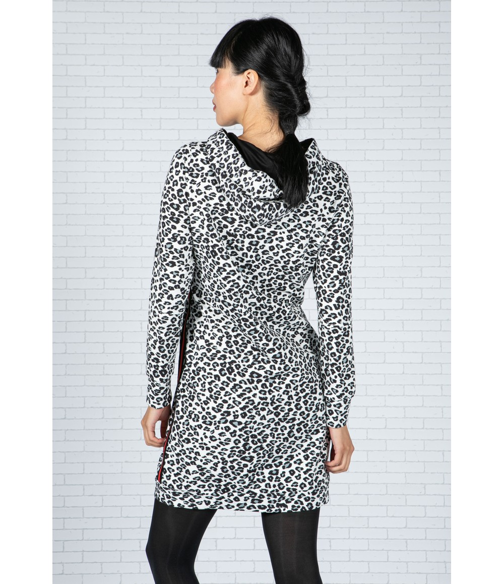 Tuzzi Snow Leopard Hooded Dress