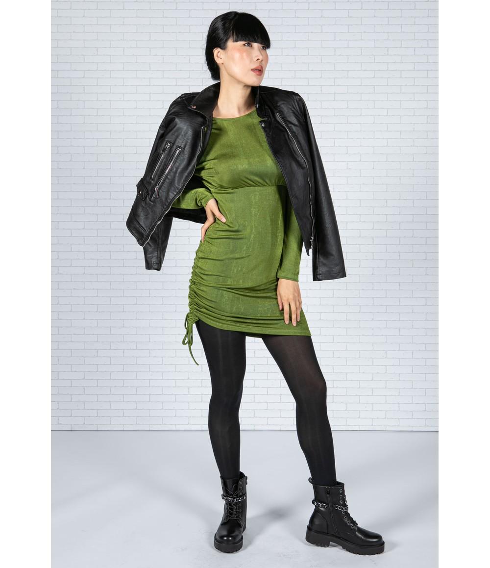 Pamela Scott Low Back Green Dress