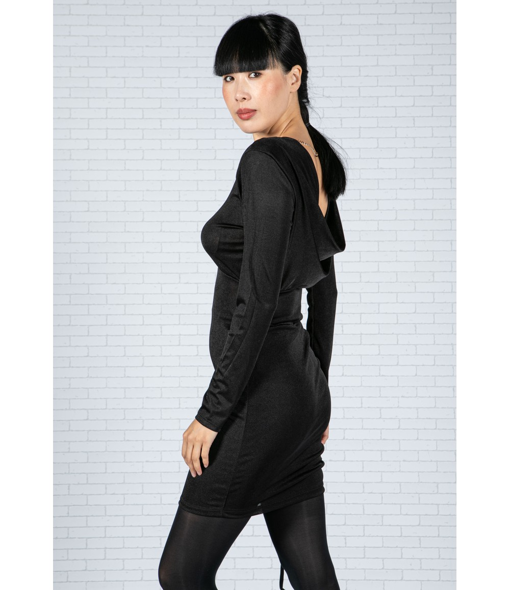 Pamela Scott Low Back Black Dress