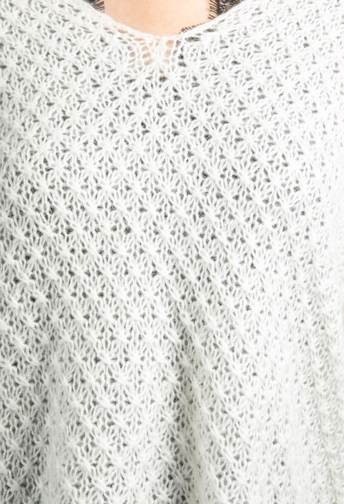 Emporium Relaxed Fit Pullover Knit in Cream