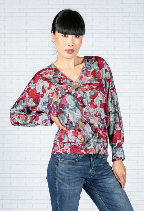 Sophie B Floral Design Knit Top