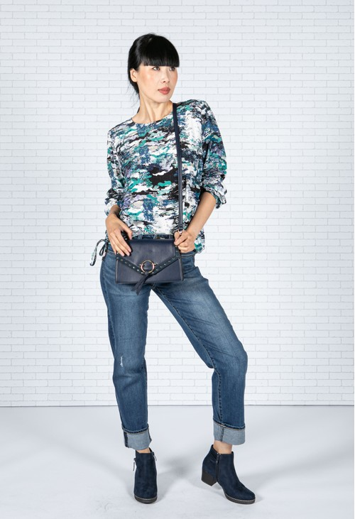 Sophie B Abstract Sea Print Top