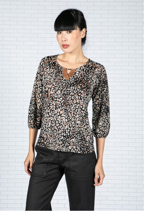 Sophie B Cheetah Print Blouse