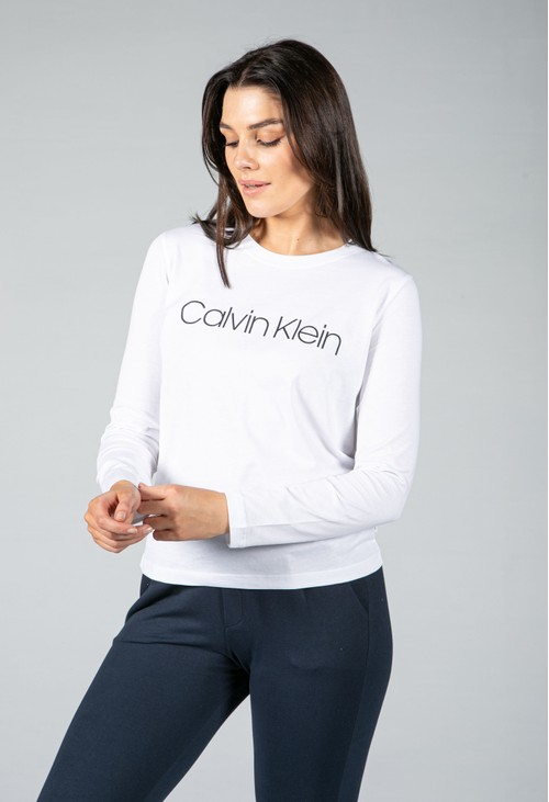 Calvin Klein ORGANIC COTTON LONG SLEEVE LOGO T-SHIRT