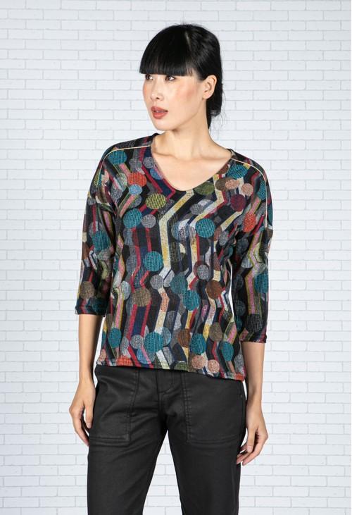 Sophie B Geometric Print Knit Top