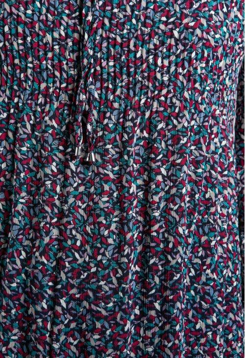 Sophie B Printed Plisse Dress in Navy
