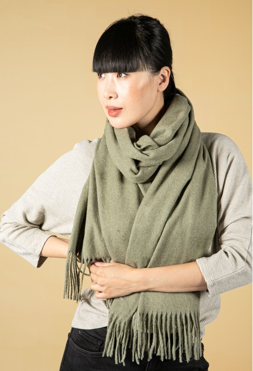 Opus Anell Scarf in Soft Moss