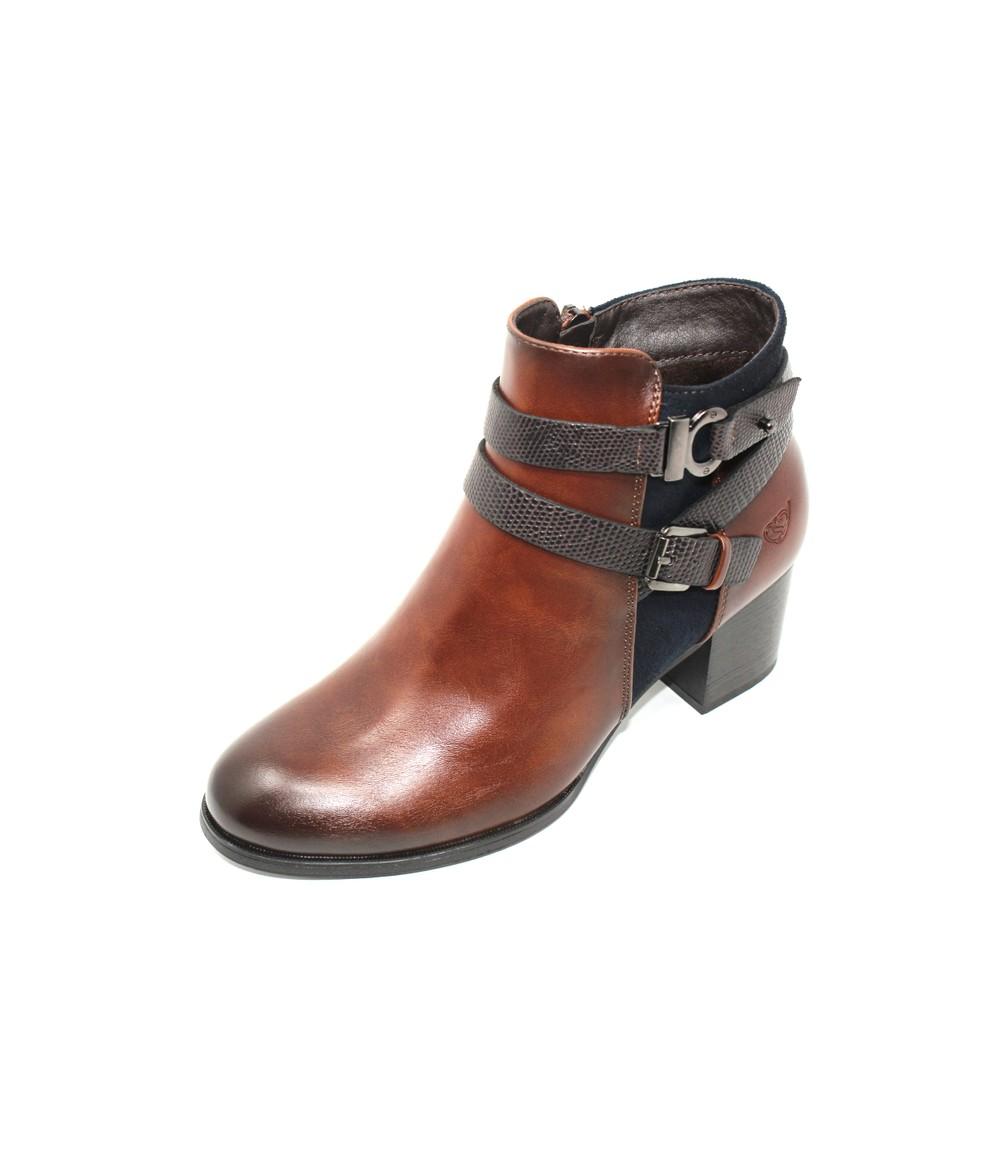 Susst Block Heel Ankle Boot