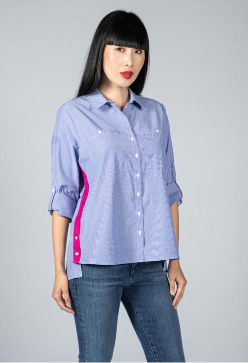 Twist Fuchsia Side Stripe Shirt