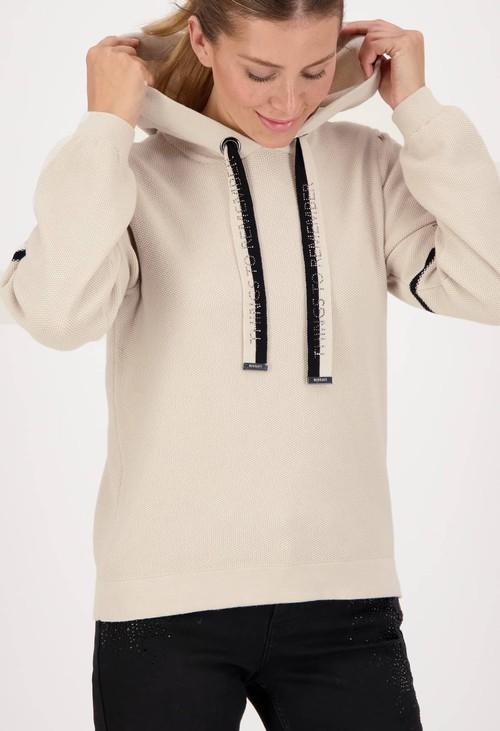 Monari Contrast Cotton Knit Hoodie