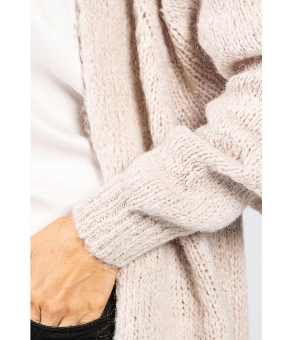 Zapara Clay Chunky Knit Long Cardigan