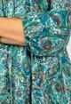 Pamela Scott Paisley Pop Print Maxi Dress in Jade & Teal