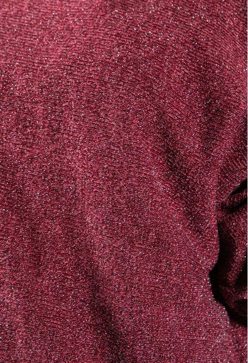 Sophie B Lurex Knit Pullover in Wine