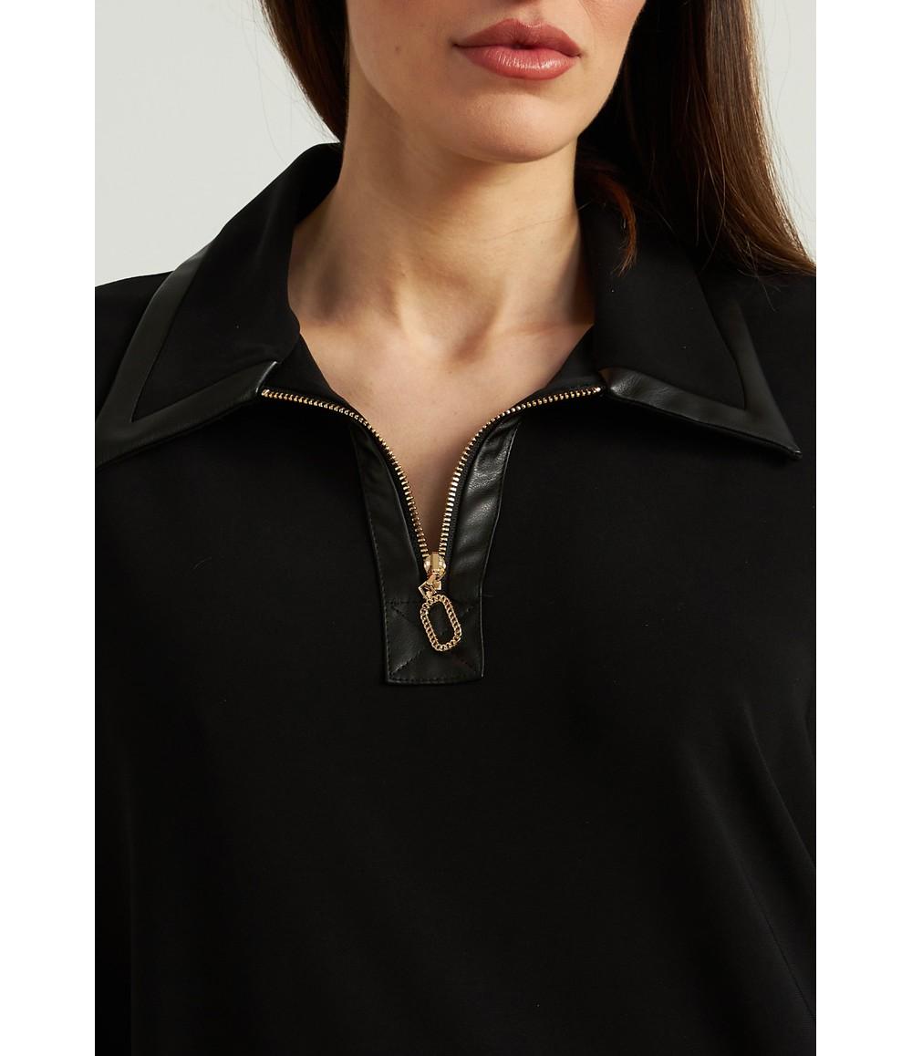 Joseph Ribkoff Leatherette Accent Dress