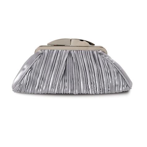 Lunar Grey Rippled Clutch Bag