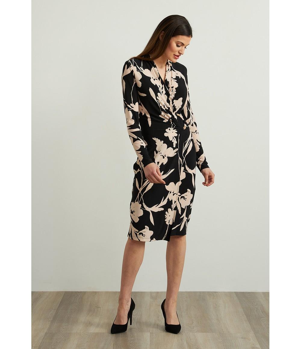 Joseph Ribkoff Floral Wrap Front Dress