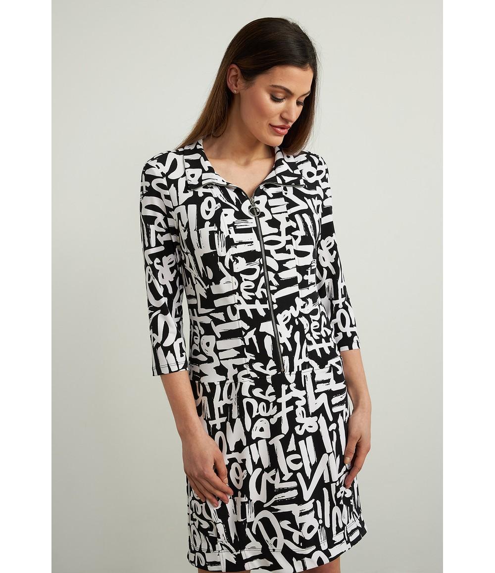 Joseph Ribkoff Graffiti Print Dress