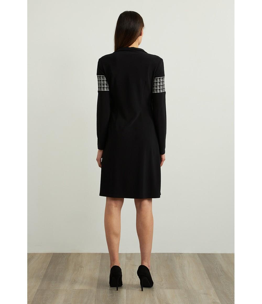 Joseph Ribkoff Zip Accent Dress